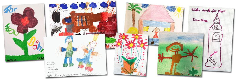 Kinderbilder-Collage